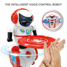 New Intelligent Robot Voice Control Music Light Electronic Toy Food Delivery Rob