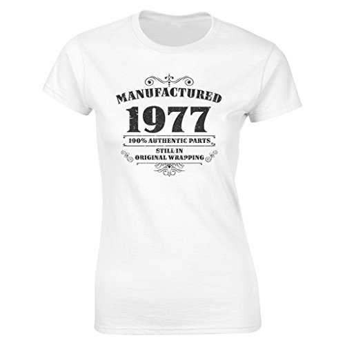 2019 Womens 40th Birthday T Shirt Manufactured 1977 Tee Shirts Gifts Funny Angel Hot Sale 100 Cotton In From Clothing