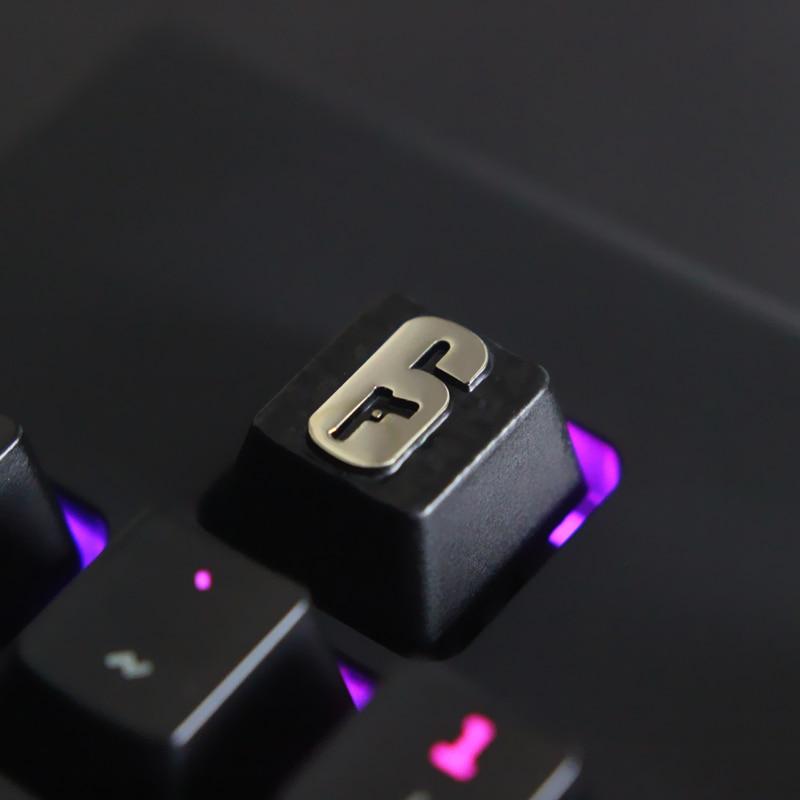 1pc Zinc-plated Aluminum Alloy ZNAL903 Key Cap For Rainbow Six Siege Mechanical Keyboard Stereoscopic Relief Keycap R4 Height