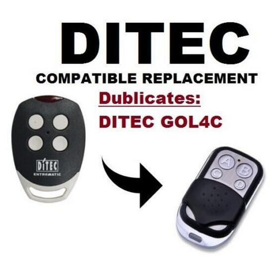DITEC GOL4C Replacement, Universal remote control transmitter replacement, clone 433.92/433MHz fixed code key fob v2 replacement remote control transmitter 433mhz rolling code top quality