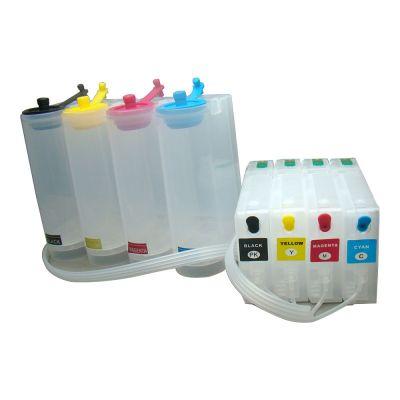 все цены на for Epson Workfor Pro WF-5620 / WF-5690 / WF-5110 / WF-5190(US) CISS with One-time Chip 4 Cartridges(70m),4 Bottles(250ml) онлайн
