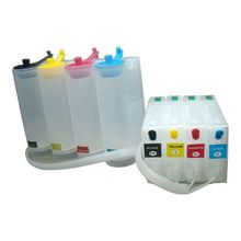 for Epson Workfor Pro WF-5620 / WF-5690 / WF-5110 / WF-5190(US) CISS with One-time Chip 4 Cartridges(70m),4 Bottles(250ml)