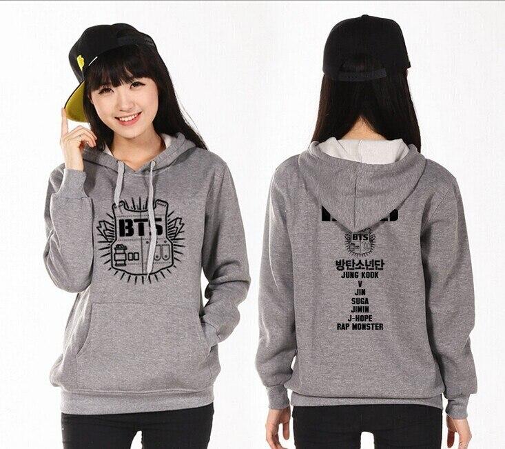 BTS Bangtan Boys kpop clothes hooded long sleeved Hoodies k-pop bts Sweatshirts sportswear jacket sportswear fleece Outerwears