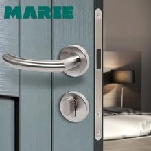 LH1007 Stainless Steel Half-Dummy Door Knob For Interior Lever Brushed Nickel Handle