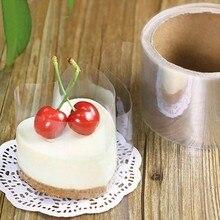 6 cm * 210 mt Kunststoff Transparent Mousse Kuchen Umlaufenden Rand Verpackung Mousse Wrapper Backen Werkzeug Hochzeit Geburtstag Dusche Dekoration