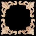 1 Pc Woodcarving Canto Do Decalque Applique Porta Quadro Decorar Móveis Portas de Parede Figuras Decorativas De Madeira Miniaturas De 8x8 cm