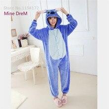 Kigurumi Blue stitch onesies Pajamas Cartoon Animal cosplay Pyjamas Adult Onesies  costume party dress Halloween pijamas