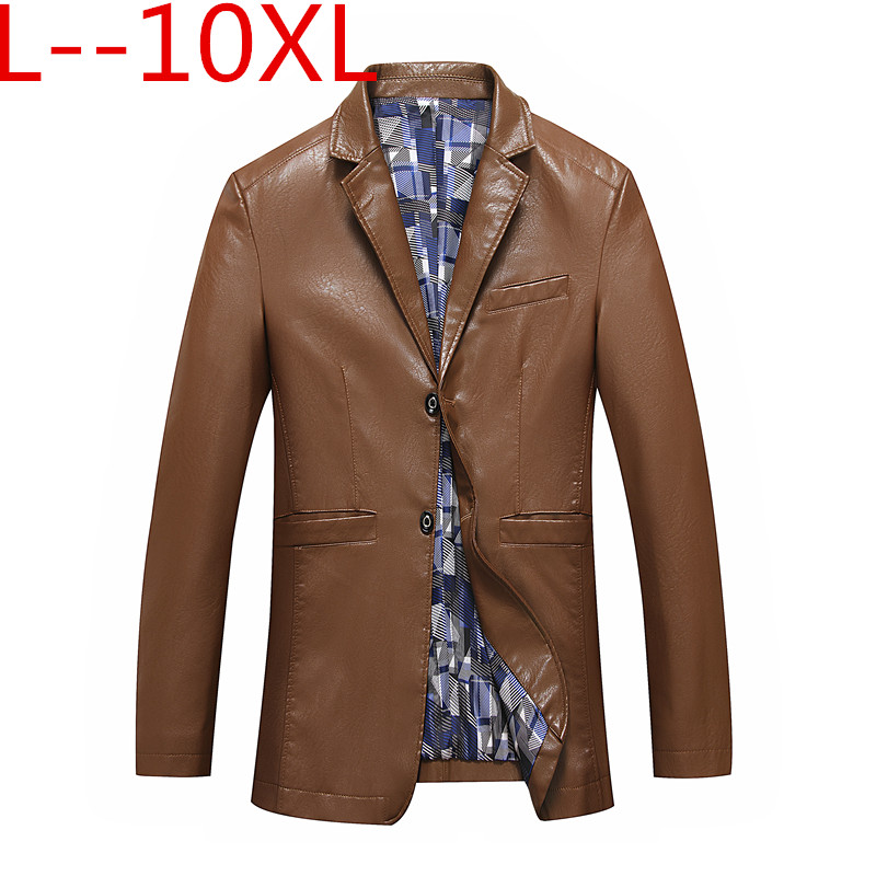Plus Size 10XL 8XL 6XL Men's Coats, Men's Increasing The Size Of The Coat, Leather Jacket, Recreational Business Men's Wear Coat