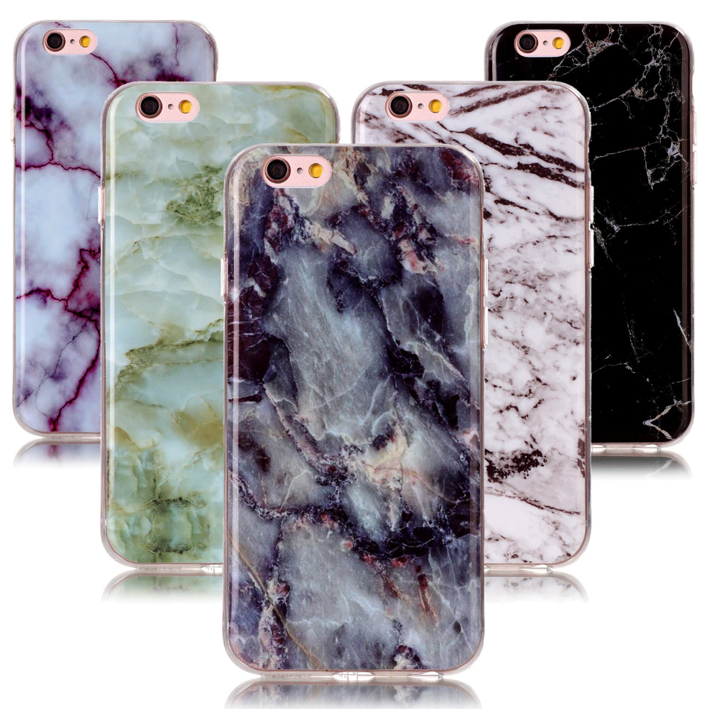 5S Marmor ultra tynd silikone etui til iPhone On 4 4S 5 5S 5C 5SE 6 6S 7 8 plus marmor Cover til iPod Touch 5 6 Coque etui på 6s