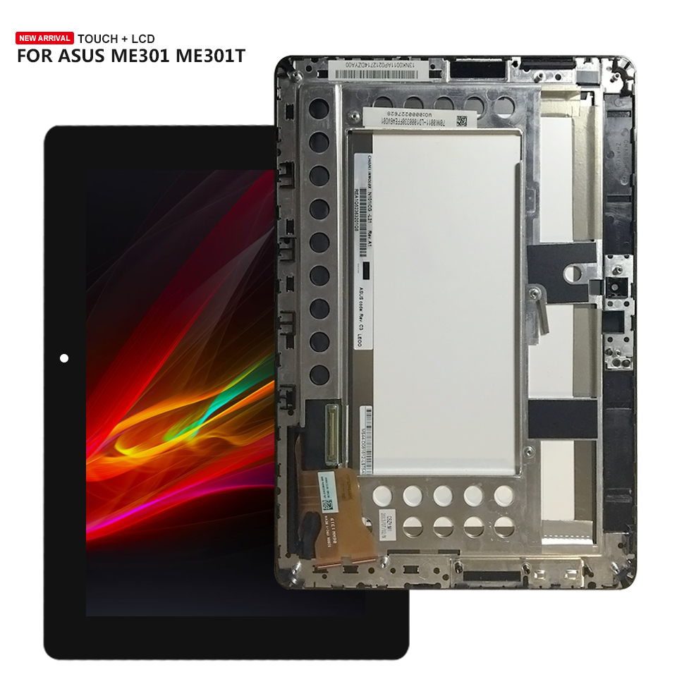 LCD Display Digitizer Touch Screen Sensor Assembly With Frame For Asus MeMo Pad Smart ME301 ME301T 5280N