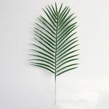 Большие зеленые Пальмовые Листья пластиковые искусственные растения домашний офис Декор