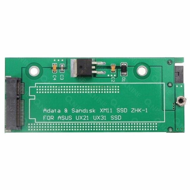 Qnine 18pin sata ao adaptador para sandisk sdsa5jk adata xm11 ssd da asus ux31 ux21