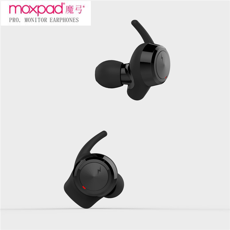 NEW Moxpad M3 Wireless Earphones Dynamic Dual Drivers Bluetooth 4.1 TWS Earbuds True Wireless Earbuds Stereo Music Headsets 2017 new moxpad m3 true tws wireless bluetooth earphones in ear headset bt4 1 mini tws earphone for iphone 7 earbuds stereo