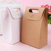 10pcs/set White Brown Kraft Paper bag Gift Bags packing Biscuits candy Food raft bread Cookie Bread Nuts Snack Baking Package цена 2017