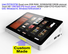 1pcs Custom Made 7inch HD screen Touch panel Dual Boot Android4.4/Windows10 In 3735/3736 2GB/32GB IPTV TV Box