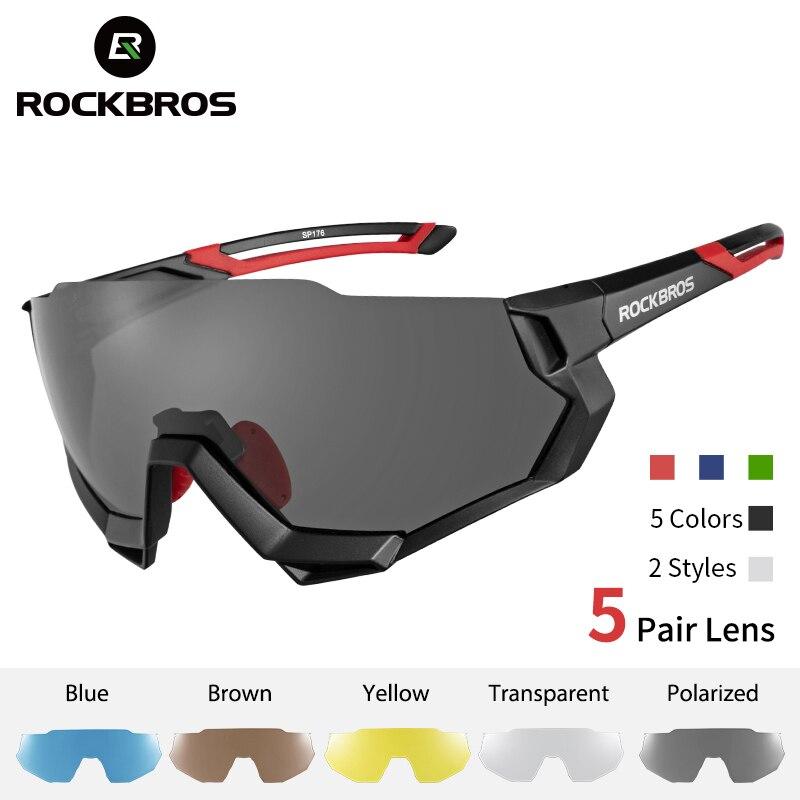 ROCKBROS Radfahren Gläser Fahrrad Polarisierte Photochrome Myopie Gläser Fahrrad Brillen Sport Männer Frauen Angeln Radfahren Sonnenbrille