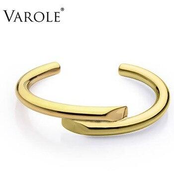c863fd16a39a Pulsera de diseño de líneas simples de joyería de marca varola ...
