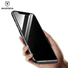 SmartDevil Anti Glare osłona ekranu dla iphone X szkło hartowane z filtrem prywatyzującym prywatne dla iphone X film Anti Spy pokrywa ochronna