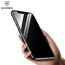 Smartdevil anti glare screen protector for iphone x 개인 정보 보호 강화 유리 개인 iphone x 필름 anti spy 보호 커버