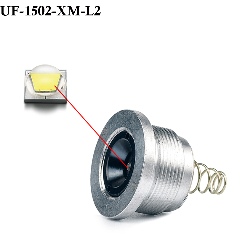 UniqueFire UF-1502 Cree XM-L2 1200LM LED Drop in Pill White Light Led 5Mode(H/M/L/Strobe/SOS)Operated Strong Light Lamp Holder
