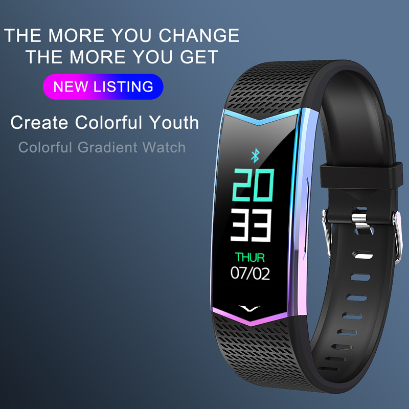 FUWUDIYI LV08 Smart Bracelet Fitness Tracker Wristband Blood Pressure Heart Rate Monitor Pedometer Sport Band For Women Watch
