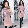 Autumn Winter New Colored cotton Women Dress Hairball Long Sleeve Straight Pockets Hooded Dresses Plus Size Warm Mini Vestidos 2