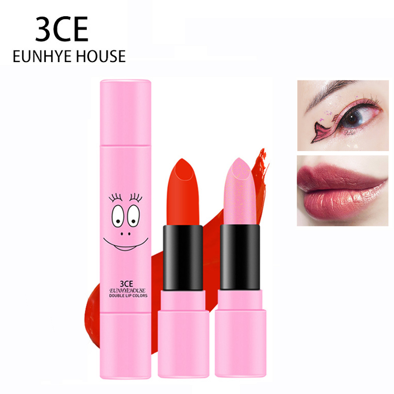 3CE Eunhye House Brand Lipsticks Make Up Double Color Gradient Lipstick Lips Makeup Cosmetic Waterproof Makeup Hot Sale 6 colors