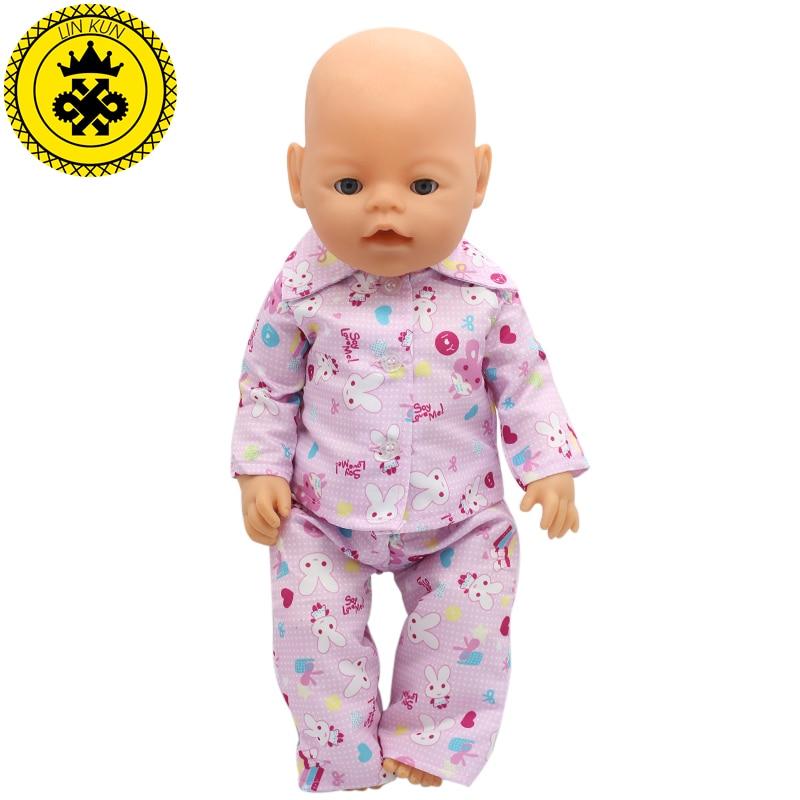 Handmade Baby Born Zapf Pajamas Suit font b Doll b font Clothes Fit 43cm Baby Born