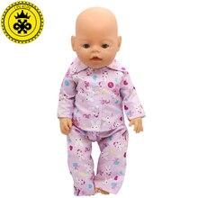 Handmade Baby Zapf Pajamas Suit Doll Clothes Fit 43cm Baby Zapf Doll Clothes Baby Birthday Gift