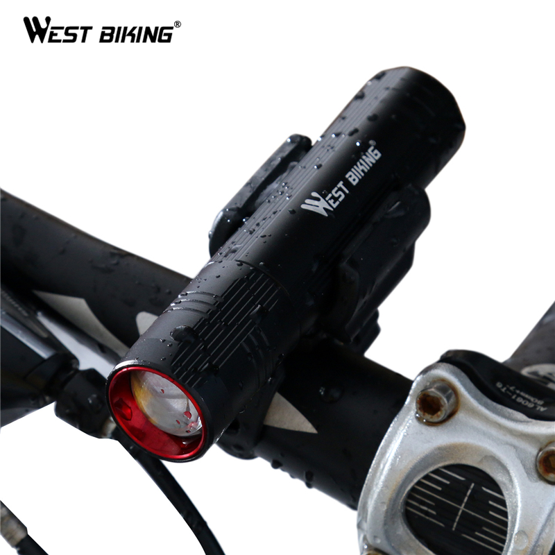 WEST BIKING Bicycle Light Waterproof CREE T6 LED MTB Bike Light Front Torch + Holder Stretch Zoom 6 Hours Cycling Bicycle Lights туфли nine west nwomaja 2015 1590