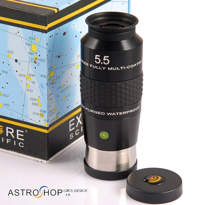 New Explore Scientific Eyepiece 100 Degree Ultra-Wide Waterproof Fully Multi-Coated 2inch 5.5mm Argon-Purged