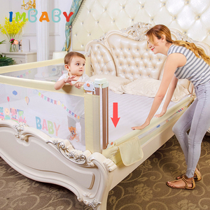 IMBABY Baby Bed Fence Safety Gate child Barrier for beds Crib Rail Security Fencing for Children Guardrail Safe Kids playpen(China)