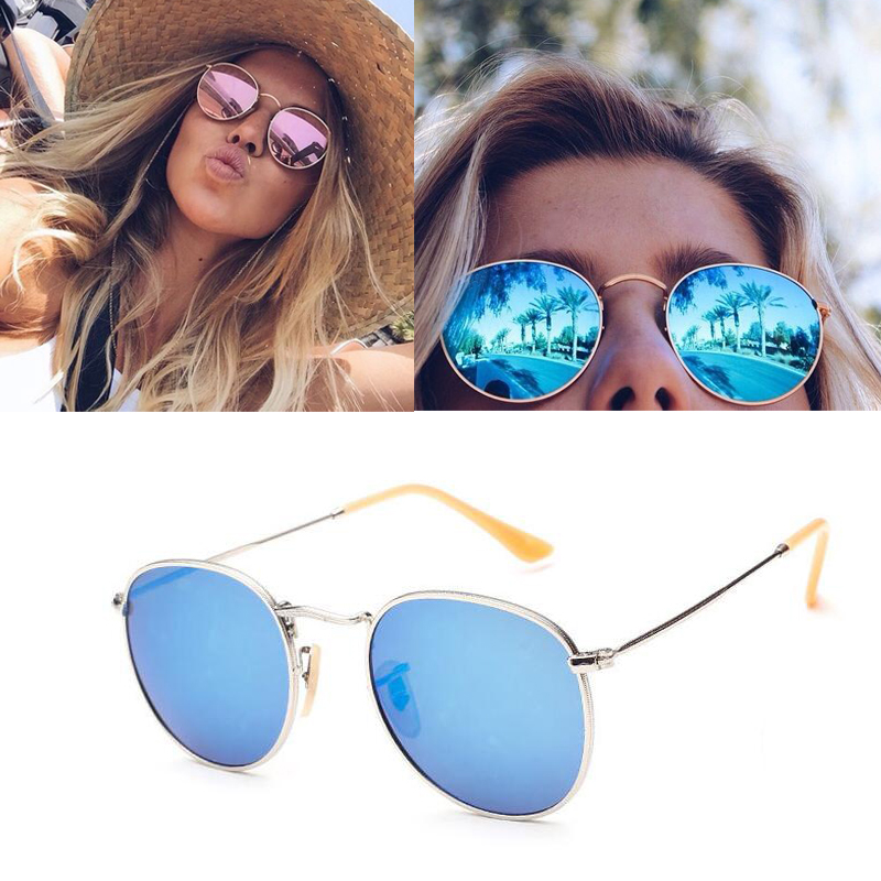 Women's Sunglasses 2018 Retro Round Sunglasses Women Men Brand Designer Sun Glasses For Womens Alloy Mirror Vantge Female Oculos De Sol Uv400