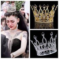 2019 New Fashion Baroque Luxury Crystal Bridal Crown Tiaras Headband Wedding Accessories Diadem Mariage Hair Jewelry Ornaments