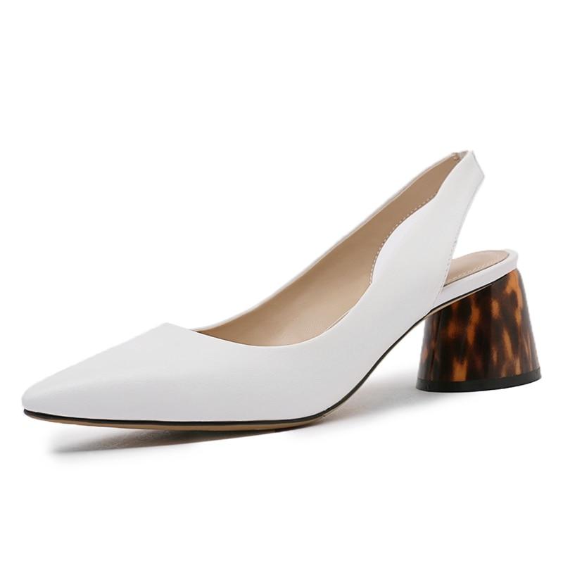 Hauts Talon Black Mode Pompes Véritable Bureau Cuir Talons Dame En white Femmes De Style Luxe Mujer Rencontres Chaussures Marque tPTnwg7Pq