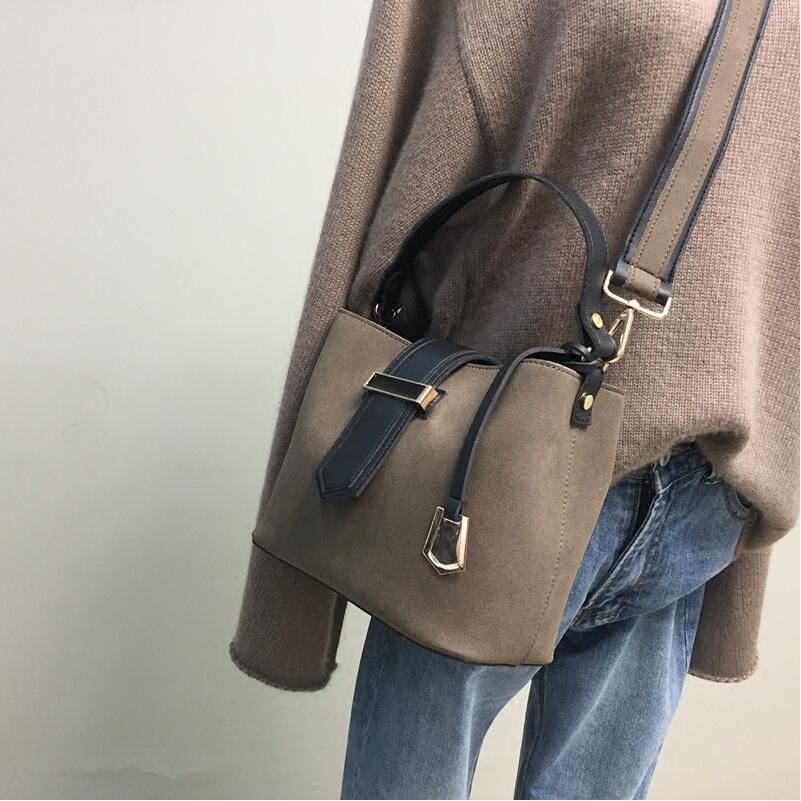 Fashion Women Top-handle handbag Bucket Bag PU Leather Shoulder Bags Brand Designer Ladies Crossbody messenger Bags 2017 fashion all match retro split leather women bag top grade small shoulder bags multilayer mini chain women messenger bags