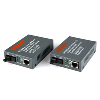 1 pair HTB 3100AB 40KM 10/100M Fiber Optic Media Converter Fiber Transceiver and Receiver Singlemode Fiber SC Port