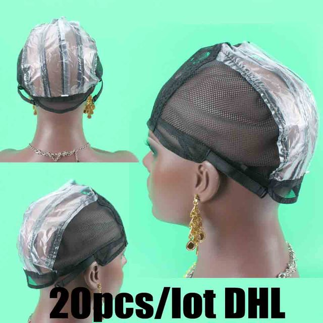 2bb269adac6 20pcs lot Hair weaving cap Black Color M Size wig caps for making wigs with