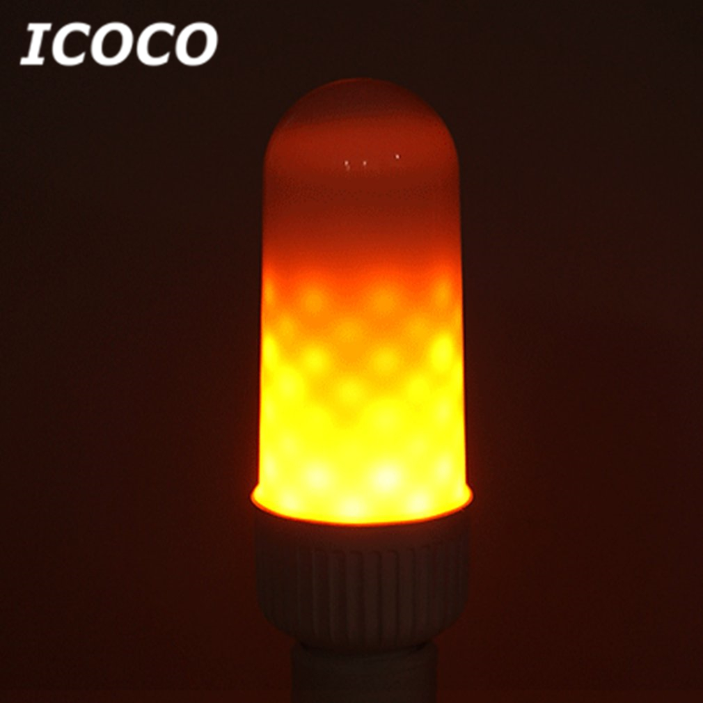 ICOCO E27 3W LED Flame Lamp Effect Light Bulb Flickering Emulation Fire Light LED Bulb for Christmas Home Decor Drop Shipping