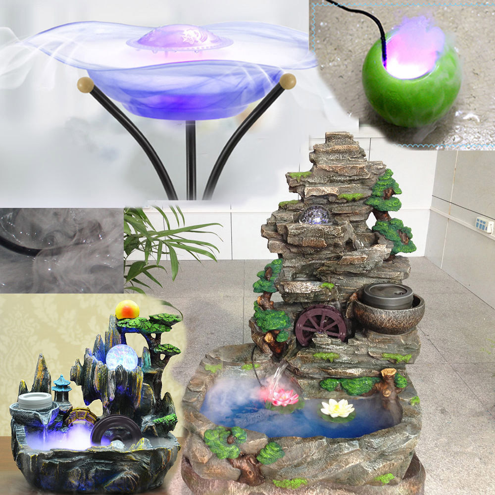 12Pcs LED Mist Maker Fogger Atomizer Air Humidifier Water Fountain Pond Fog Machine Aquarium accessories Ornament F902