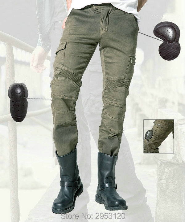 цена uglyBROS MOTORPOOL-army green leisure jeans motorcycle fit body pants motorcycle knight daily riding casual protection trousers онлайн в 2017 году