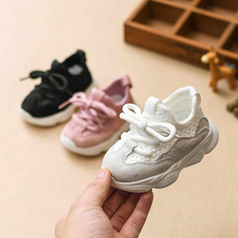DIMI 2019 otoño bebé niña Niño Zapatos infantil Casual correr zapatos suave cómodo transpirable niños zapatillas de deporte