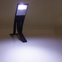NEW Black Portable Flexible Mini Folding LED Torch Clip-on Travel Book Reading Raeder Kindle Lamp Light Hot