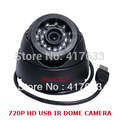 720P IR 15m Night Use USB Eyeball Dome Camera w/Motion Detection Record for Home CCTV Video Security DVR Camera& TF Card Slot
