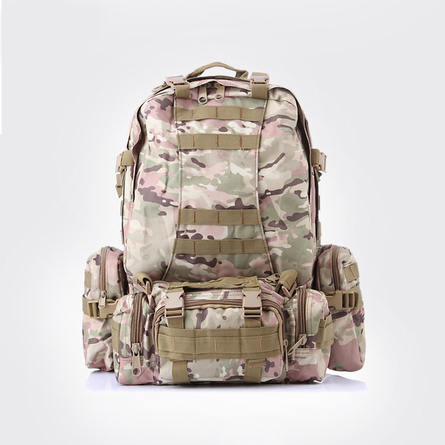 489d6d3553 Multicam High Quality 50L Backpacks Assault Military Rucksacks Molle  Backpack Combination Bag