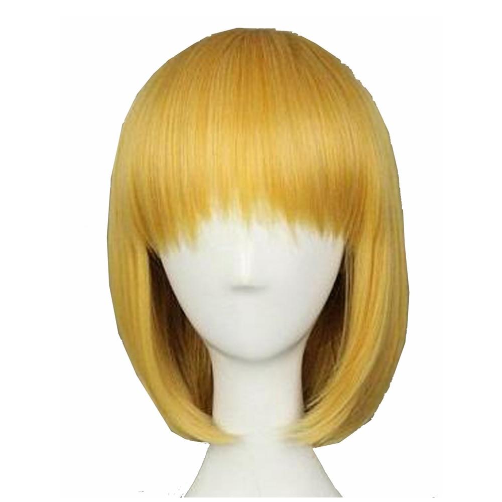 Attack on Titan Armin Arlert Cosplay Hair Accessories Women Beautiful Short Bob Golden Hair Party Costume Props Hot Sale