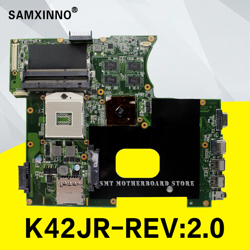 K42JR Motherboard REV:2.0 HM55 For ASUS K42J A42J K42JR K42JC laptop Motherboard K42JR Mainboard K42JR Motherboard test 100% ok trendy halter printed asymmetrical two piece swimsuit for women