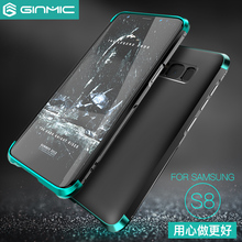 Ginmic for Samsung Galaxy S8 Case Hard PC Luxury Armor Shockproof Metal Frame Hybrid Phone Cover for Samsung S8 Plus edge s8+