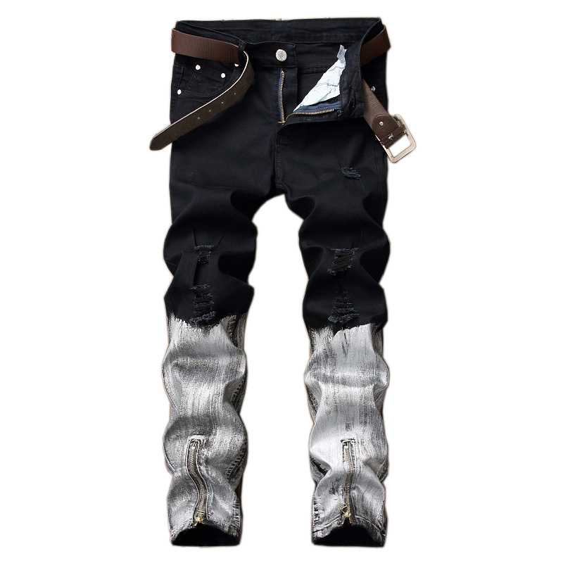2018 Man Fashion Brand Designer Jeans Men High Quality Streetwear Men Denim Jeans Skinny Men Slim Fit Stretch Casual Pants