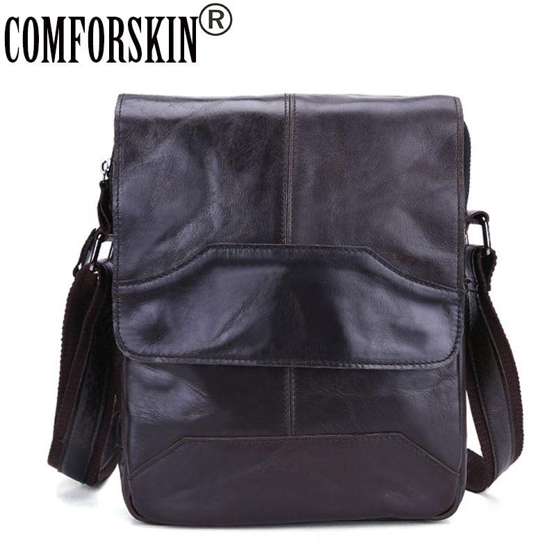 COMFORSKIN Luxurious Cow Cross body Bag 2018 New Arrivals Hot Brand Vintage Men Messenger Bags High